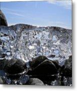 Ice On Rocks 3 Metal Print