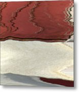 Ice To Earth Abstract Metal Print
