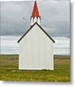 Icelandic Church Metal Print