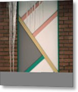 Icicles 3 - In Front Of Architectural Design Off Red Brick Bldg. Metal Print