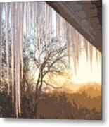 Icicles One Metal Print