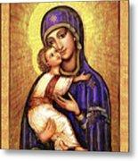 Icon Madonna And Infant Jesus Metal Print