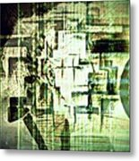 Identity In Uninterrupted Mutation Metal Print