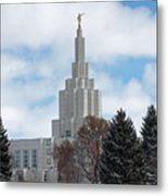 If Temple Dusted In Snow Metal Print