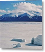 Igloo On Atlin Lake - Bc Metal Print