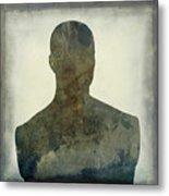 Illustration Of A Human Bust. Silhouette Metal Print by Bernard Jaubert