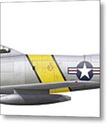 Illustration Of A North American F-86f Metal Print