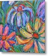Imaginary Flowers Metal Print