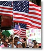 Immigrant Marcher In Orlando Metal Print
