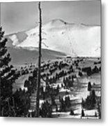 Imperial Bowl And Peak 8 At Breckenridge Resort Colorado Metal Print by Brendan Reals