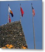 Imposing Flags Metal Print