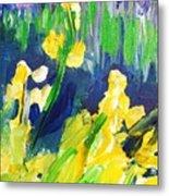 Impression Flowers Metal Print