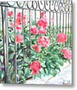 Imprisoned Peonies Metal Print