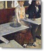 In A Cafe Metal Print by Edgar Degas