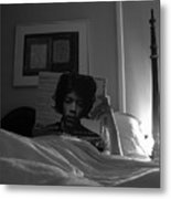 In Bed With Hendrix Metal Print