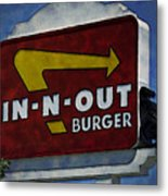 In-n-out Metal Print by Ricky Barnard