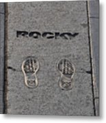 In The Footsteps Of Rocky Metal Print