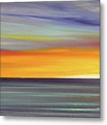 In The Moment Panoramic Sunset Metal Print by Gina De Gorna