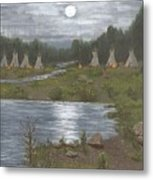 Indian Camp Metal Print
