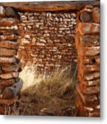 Indian Ruins Doorway Metal Print