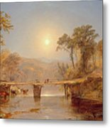 Indian Summer On The Delaware River Metal Print