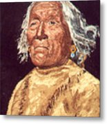 Indian Warrior Metal Print