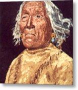 Indian Warrior Metal Print