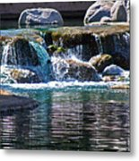 Indian Wells Waterfall Metal Print