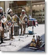 Indians In Greece Metal Print
