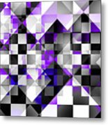Indigo Facets Metal Print