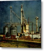 Industrial Farming In Texas Metal Print