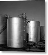 Industrial Storage Tanks Metal Print
