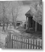 Infrared House Metal Print