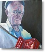 Inis Mor Accordian Player Metal Print