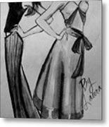 Ink Ladies Metal Print