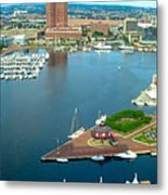 Inner Harbor Baltimore Panorama Metal Print