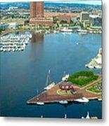 Inner Harbor Baltimore Panorama Metal Print