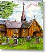Innset Kirke -- Norway Metal Print