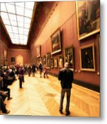 Inside Louvre Museum  Metal Print by Charuhas Images