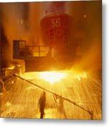 Inside The East-slovakian Steel Mill Metal Print