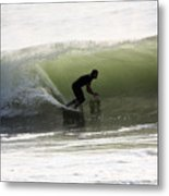 Inside The Wave Metal Print
