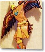 Intarsia Eagle Dancer Metal Print by Russell Ellingsworth