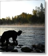 Interesting Mississippi River Dawn Metal Print