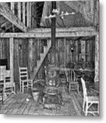 Interior Criterion Hall Saloon - Montana Territory Metal Print by Daniel Hagerman