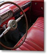 Interior Of A Classic American Car Metal Print by Sami Sarkis