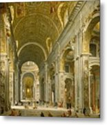 Interior Of St. Peter's - Rome Metal Print