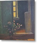 Interior With A Bouquet Metal Print