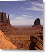 Into Monument Valley Metal Print