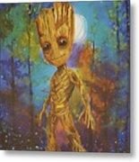 Into The Eyes Of Baby Groot Metal Print