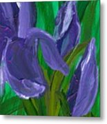 Iris Up Close And Personal Metal Print